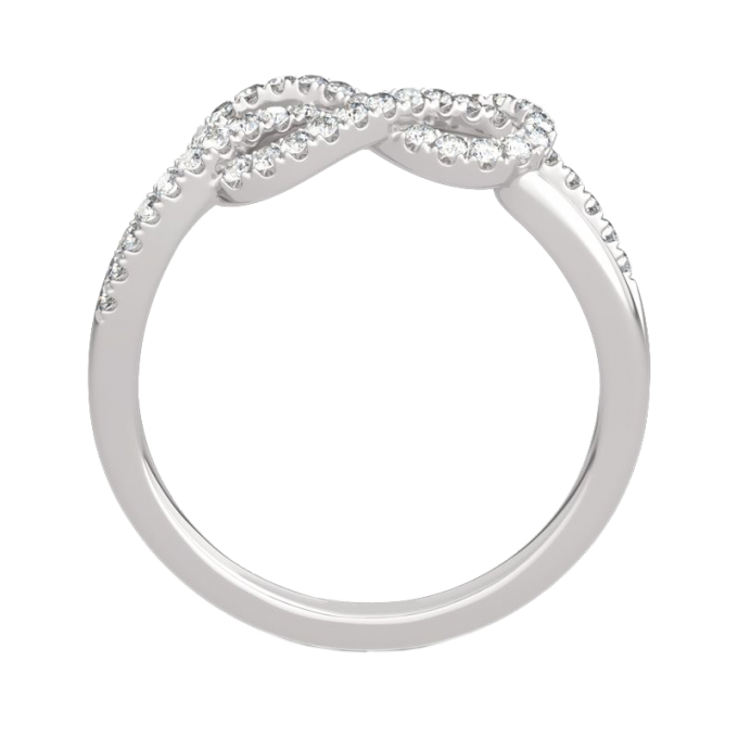 Infinity Knot Design 14K Gold Band