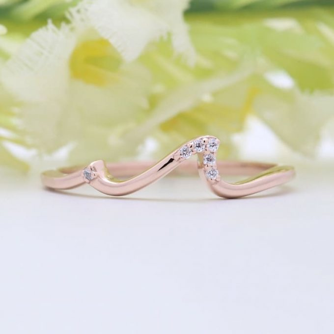 0.06 CT Salt and Pepper Round Cut Natural Diamond 14K Gold Engagement Ring