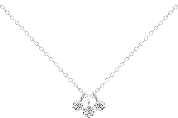 0.21 CT Round Cut Diamond and Gold Studded Solitaire Diamond Pendant