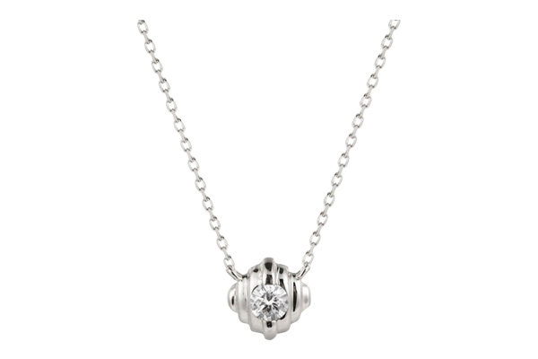0.1 CT Round Cut Diamond and Gold Studded Diamond Solitaire Pendant