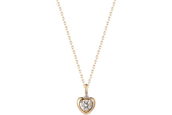 0.10 CT Round Cut Diamond and Gold Studded Solitaire Diamond Pendant