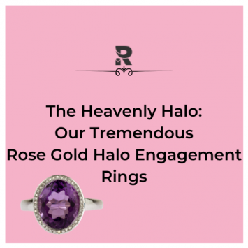 The Heavenly Halo Engagement Ring : Our Tremendous Rose Gold Rings
