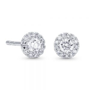 0.25 CT Round Shape Diamond and Gold Stud Earring