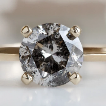 Try An Imperfect Salt And Pepper Diamond Ring This Time