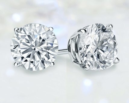 Four prong stud earring